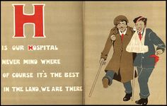 from OUR HOSPITAL ABC (London: 1916), by Joyce Dennys; illus. by Hampden Gordon and M.C. Tindall.