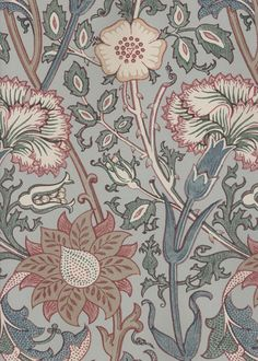 Wallpaper William Morris (5qm) Lit Wallpaper, Pattern Wallpaper, Surface Pattern Design, Pattern Art, Textiles, Tapete Pink, Art Nouveau, William Morris Art, Morris Wallpapers