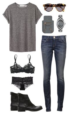 """relax weekend"" by toutestparfait ❤ liked on Polyvore featuring Étoile Isabel Marant, Chanel, Illesteva, Current/Elliott, Balenciaga, The Last conspiracy, Elle Macpherson Intimates and H&M"