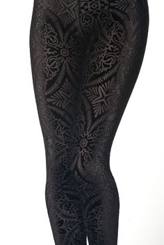 I haven't worn leggings in almost 20 years.  These are awesome, and I want them.  I don't even know what I would wear with them.  Revenge of the Burned Velvet Leggings