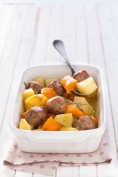 salsiccia con zucca e patate