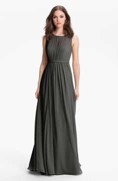 mother of the bride dress for linda Jenny Yoo 'Vivienne' Pleated Chiffon Gown   Nordstrom