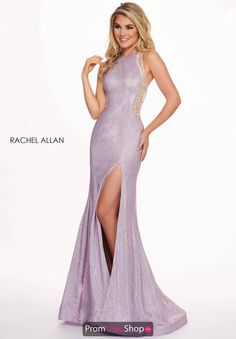 73be44fd513 Rachel Allan High Neck Fitted Jersey Dress 6491