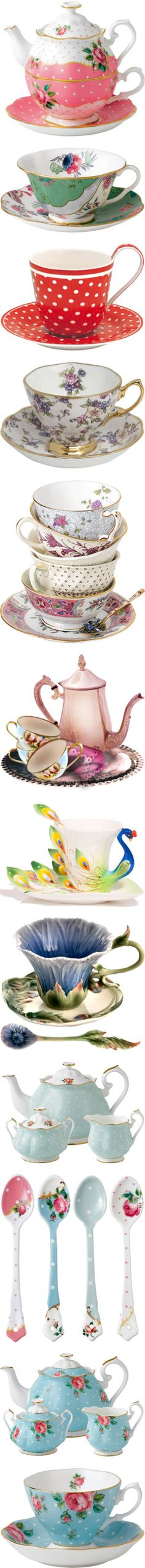 Tea Time by judymjohnson on Polyvore featuring home, kitchen & dining, teapots, food, tea, tea pot, bone china, vintage bone china, rose tea pot and royal albert tea pot