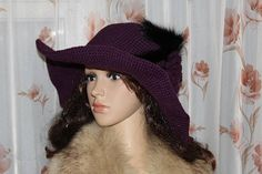 Women's hat. Hat knitted. Hat.Exclusive hat.