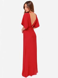 Shop Red Short Sleeve V Back Maxi Dress online. Sheinside offers Red Short Sleeve V Back Maxi Dress & more to fit your fashionable needs. Free Shipping Worldwide!