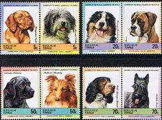 Tuvalu Nukulaelae 1985 Dogs Set Fine Mint                              SG Listed Scott 35 8 Other European and British Commonwealth Stamps HERE!