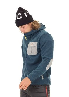 Men's Marco Hoodie Petrol Blue - Recycled Polyester from Plastic Bottles Sports Hoodies, Sportswear, Recycling, Layers, Winter Hats, Organic, Casual, Blue, Outdoor