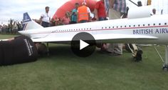 A Huge Concorde RC Plane Powered By REAL Jet Engines, Holy Cow!!