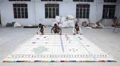 Doshi Levien's Rabari rugs for Nani Marquina, coming soon to Nest.co.uk www.nest.co.uk/... Image via Dezeen.