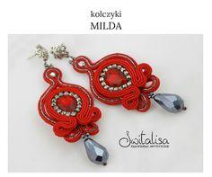 Kolczyki+MILDA+sutasz+-+czerwone+w+switalisa+na+DaWanda.com