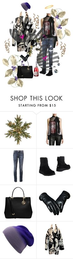 """""""New Years Lunch"""" by papillon-ze-cat ❤ liked on Polyvore featuring National Tree Company, Cinq à Sept, Versace, UGG, MICHAEL Michael Kors and Betty Boop"""