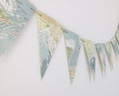 Map Bunting - Classroom Decoration