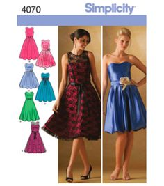 Simplicity Pattern 4070-Misses/Miss Petite Special Occasion-Sz 6-14Simplicity Pattern 4070-Misses/Miss Petite Special Occasion-Sz 6-14,