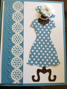 "Dress card with ""pearls"""