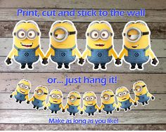 Hey, I found this really awesome Etsy listing at https://www.etsy.com/listing/164818083/despicable-me-minions-bunting-garland