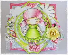 From our Design Team! Card by Ashlee Bellinger featuring Paper Doll Marci (Princess) and Stitched Sun and Clouds Die :-) Shop for our products here - shop.lalalandcrafts.com Coloring details and more Design Team inspiration here - http://lalalandcrafts.blogspot.ie/2015/01/inspiration-monday-funky-colours.html