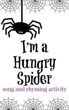 A fun spider preschool song to work on rhyming words from growingbookbybook. Preschool Music, Fall Preschool, Preschool Curriculum, Preschool Lessons, Preschool Classroom, Preschool Learning, Halloween Songs Preschool, Homeschooling, Classroom Ideas