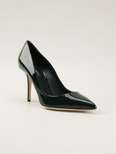 Dolce & Gabbana 'kate' Pumps - Julian Fashion - Farfetch.com Dark green patent leather 'Kate' pumps from Dolce & Gabbana featuring a pointed toe, a high stiletto heel and a brand embossed insole.