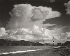 1953 The Golden Gate and Bridge from Baker's Beach, San Francisco, California by Ansel Adams 84.92.54