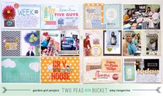 Incorporating memorabilia into Project Life by Amy Tangerine (See her video showing how these pages came together.)