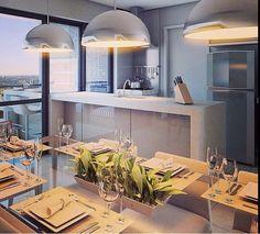 Cozinha e sacada integradas