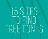 15 sites to find free fonts