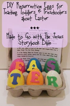 DIY Resurrection Eggs for Teaching Toddlers and Preschoolers about Easter - Made to Go with the Jesus Storybook Bible
