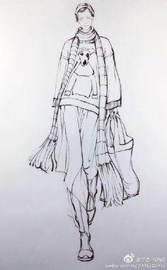 Women S Clothing Like Fashion Nova Illustration Mode, Fashion Illustration Sketches, Illustration Techniques, Fashion Sketchbook, Fashion Sketches, Fashion Design Portfolio, Fashion Design Drawings, Fashion Show Themes, Fashion Templates