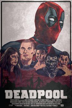Deadpool Movie Poster using Adobe Illustrator and Draw.