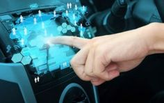 Pushing on a touch screen interface navigation system in interior of modern car Microsoft, Toyota, Mobile Office, Ford, Cloud Based, Automotive Industry, Big Data, Car Parts, Buick