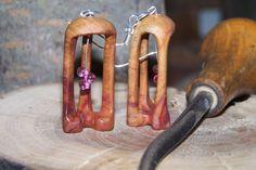 http://polandhandmade.pl #polandhandmade #woodenearings #kolczyki