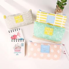 New Arrival Fresh Style Cute Pink Canvas Pencil Case Stationery Storage Organizer Bag School Supplies Pencil Bag For School Korean Stationery, School Stationery, Cute Stationery, Pencil Bags, Pencil Pouch, Gifts For Office, Gifts For Kids, Pen Case, Student Gifts
