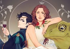 Jude and Cardan from Holly Black's Folk of the Air series The Cruel Prince Fanart, Holly Black Books, Queen Of Nothing, Captive Prince, Book Fandoms, Book Characters, Fantasy Characters, Female Characters, Fictional Characters