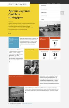 Institut Choiseul for International politics and geo-economics - Webdesign inspiration www.niceoneilike.com
