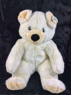 e810a2ff9de Gerber Precious Plush Off White Teddy Bear Black Nose Plush Stuffed Animal  18