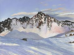 Alamoots Winter Mountains Painting