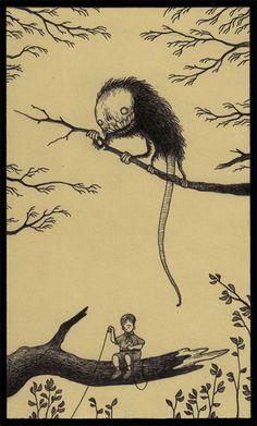 Creepy Illustrated Monsters Sketched Onto Post-It Notes By John Kenn Mortensen Gravure Illustration, Monster Illustration, Illustration Art, Illustrations, Monster Sketch, Monster Drawing, Monster Art, Rpg Horror, Horror Art