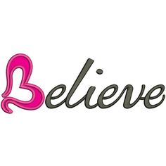 Believe Breast #Cancer Awareness Heart Ribbon #Applique Machine Embroidery Design