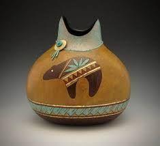 Image result for denise pfau gourd art