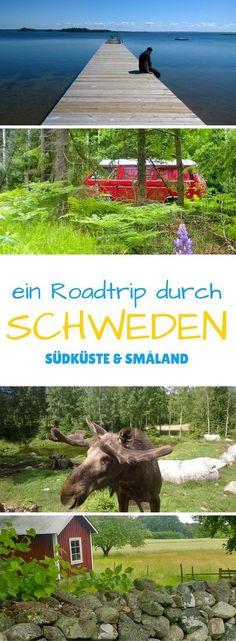 Ein Roadtrip durch Schweden - entlang der Südküste und durch Småland. Eine Reise zu den Elchen, roten Holzhäusern, ruhigen Seen und tiefen Wäldern mit dem Bulli.