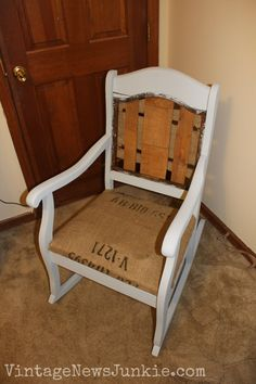 The Rescued Rocking Chair How to Reupholster a Chair Tutorial & Redoing An Old Rocking Chair: Part Two | Rocking chairs Upholstery ...
