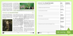 Valentine's Day Around the World Differentiated Reading Comprehension Activity - Comprehensions KS3/4 English, reading comprehension, KS 2, Valentine's Day, St Anthony's Day, love