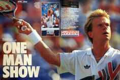 "Stefan Edberg's first win at the US Open in this fantastic special report from French ""Tennis Magazine""."