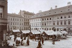 Budapest, V kerület, Piac a Hal téren, 1896 körül  Klösz György felvétele