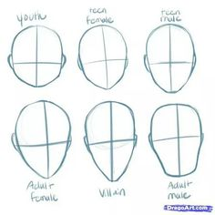Drawing Techniques, Drawing Tips, Drawing Lessons, Drawing Drawing, Anatomy Drawing, Anime Face Drawing, Female Face Drawing, Figure Drawing, Gesture Drawing