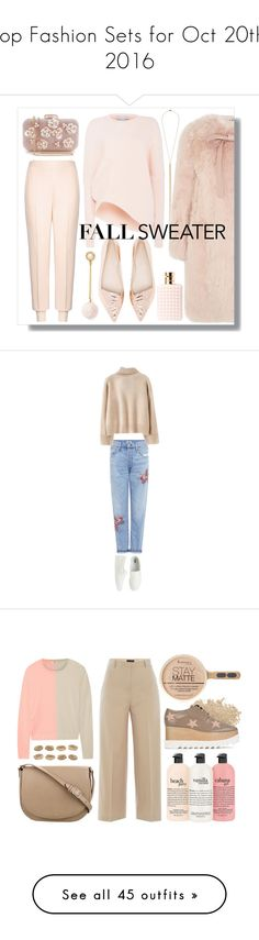 """Top Fashion Sets for Oct 20th, 2016"" by polyvore ❤ liked on Polyvore featuring Jennifer Zeuner, STELLA McCARTNEY, Miu Miu, BaubleBar, Sophia Webster, Valentino, Citizens of Humanity, Uniqlo, WithChic and W3LL People"
