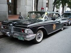 '59 Edsel cop car....Re-Pin brought to you by #ClassicCarInsurance agents at #HouseofInsurance Eugene