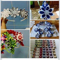 Ideas Diy Headband, Diy Hair Accessories, Affordable Art, Diy Hairstyles, Hanukkah, Wreaths, Ideas, Home Decor, Decoration Home