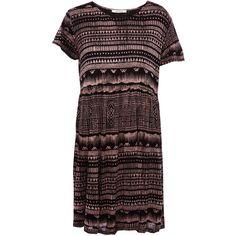 Pull & Bear Ethnic Print Dress (€9,12) ❤ liked on Polyvore featuring dresses, vestidos, pull&bear, black, brown, tribal print dress, brown dresses, ethnic print dress, pull&bear dress and tribal pattern dress
